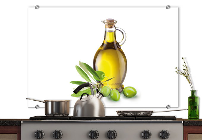 Olive Oil - Kitchen Splashback