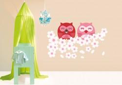 Cherry Owls Wall sticker
