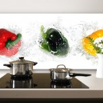 Splashing Peppers – Panorama – Kitchen Splashback