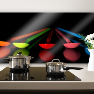 Colourful Spoons - Panorama - Kitchen Splashback