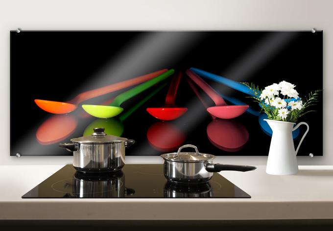 Colourful Spoons - Panorama - Kitchen Splashback
