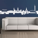 Glasgow Skyline Wall sticker