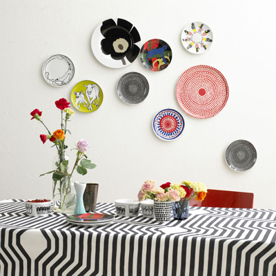 Crockery wall decoration