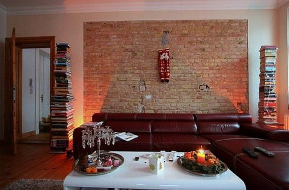 Modern living room brick wall decoration