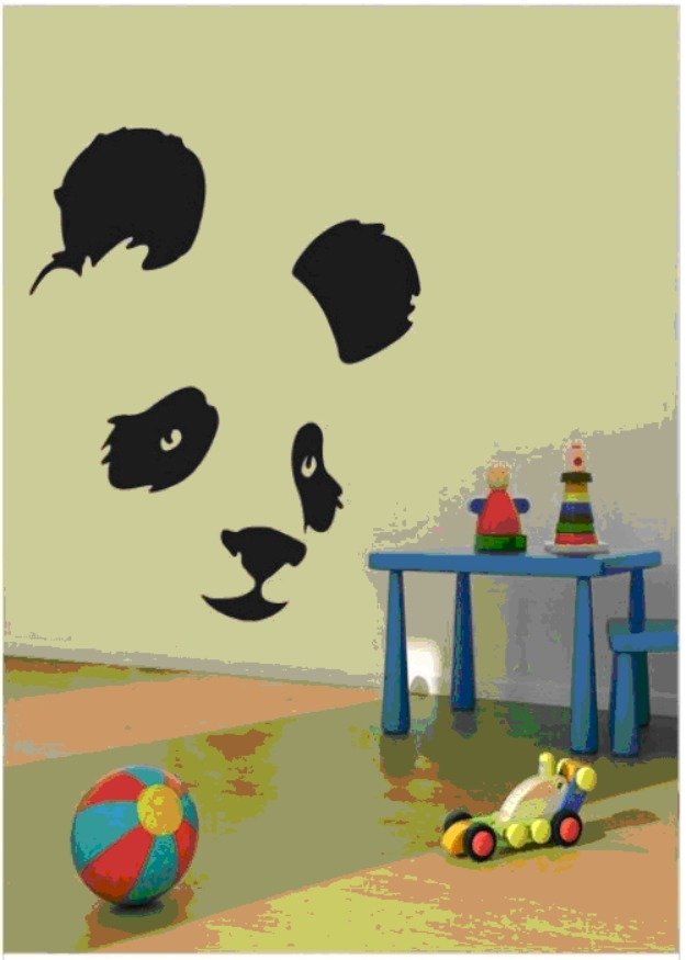 Panda wall art for kids room
