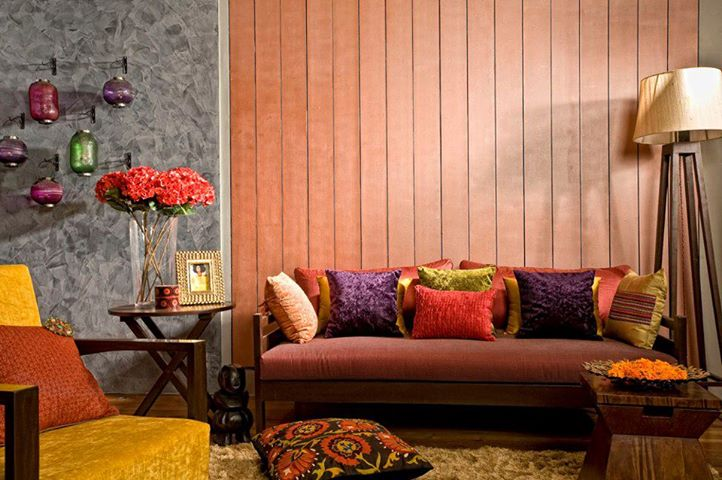 wooden wall decoration living room