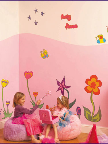 Kids room floral wall art