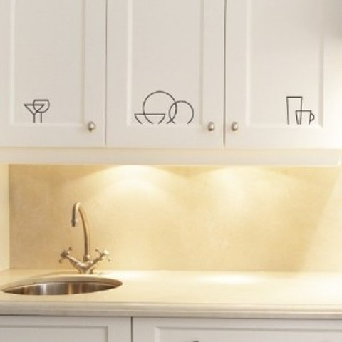 Kitchen cabinet decal wall art