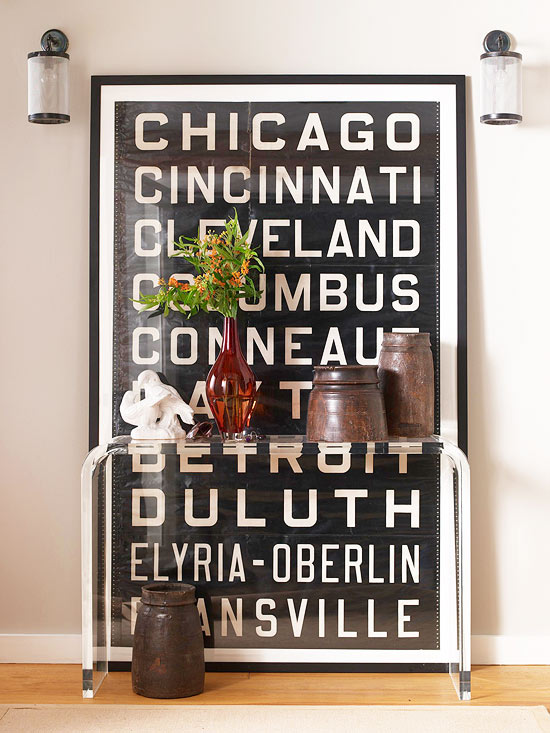 Typography wall decoration