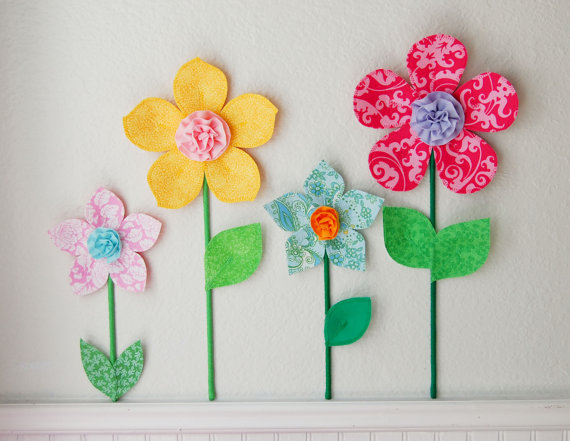3d flower wall decor wall decoration pictures wall decoration pictures - How to decorate with spring flowers ...
