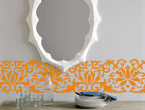 Border Flower Pattern Wall Decor