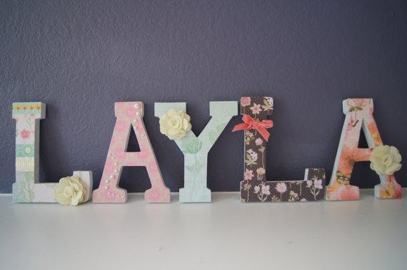 Garden Themed Letters wall art