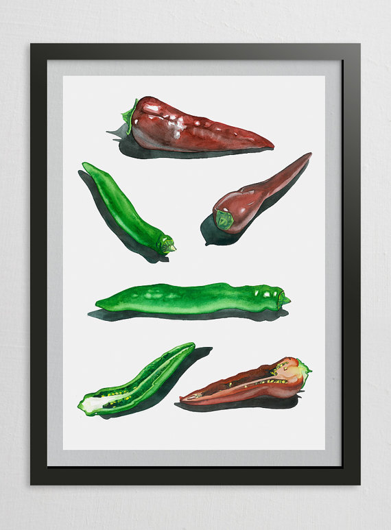 Vegetable Art Print Kitchen Wall Decor