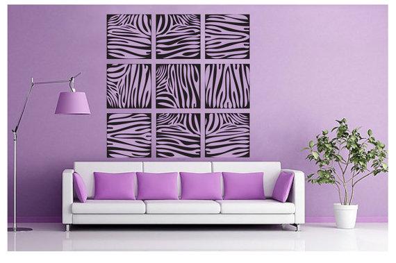 Zebra print wall decoration