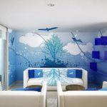 Small Living Room Wall Murals Decorating Ideas