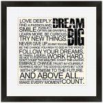 Dream Big Framed Wall Hanging