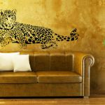 Lying Leopard Wall sticker