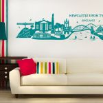Newcastle upon Tyne Skyline Wall sticker