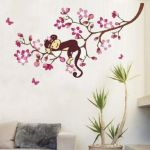 Monkey wall art for kids room