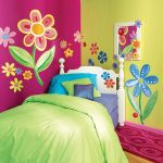 Floral paint wall art