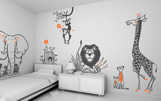 Animals wall decoration pictures