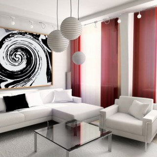 Bright Living Room Wall Design
