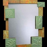 DIY Mirror Wall Decoration with Tiles