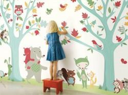 Jungle wall decoration kids room