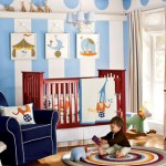 Kids Room wall decoration in Blue