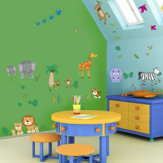 Zoo wall decoration for kids room