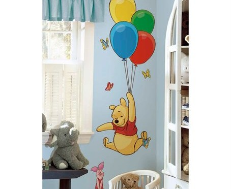cartoon wall decoration kids room pooh