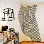 Wall decoration with tape