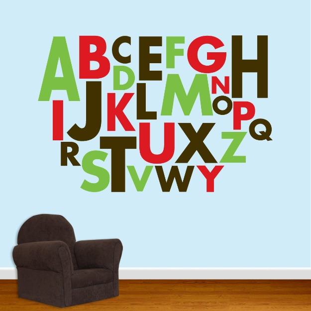 Alphabet wall decoration for kids room wall decoration for Alphabet decoration