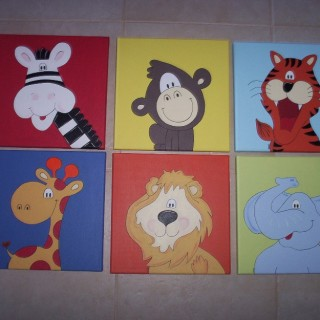 Cute cartoon wall decoration