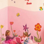 Kids room floral wall art