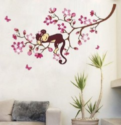 Monkey wall art for kids room