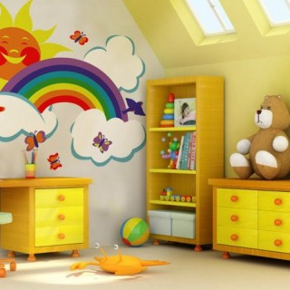 Rainbow wall decoration for kids room