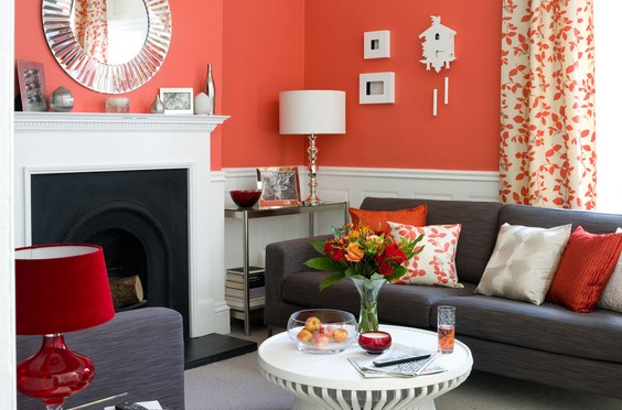 Red Living Room decoration