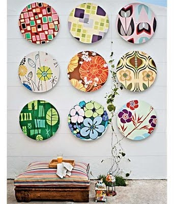 Stunning plate wall decoration