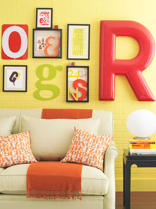 Typography wall art
