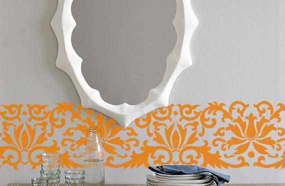 Border Flower Pattern Wall Decor