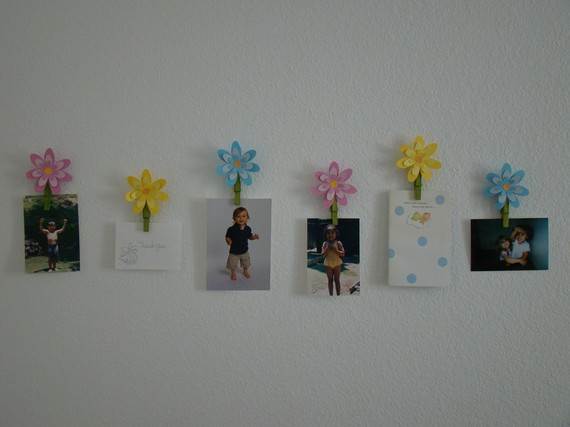 Flower Art Photo Display Clips Wall Decor