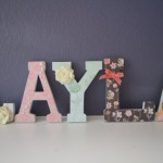 Garden Themed Letters wall art