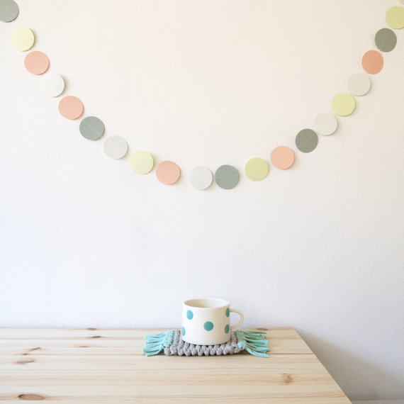 Multicolored garland wall decoration