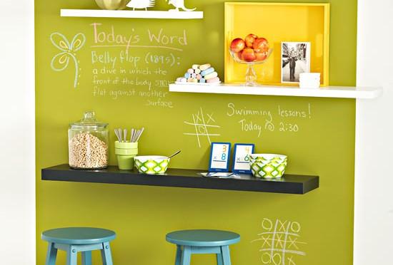 Stagger shelf wall art
