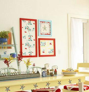 Tablecloth wall art