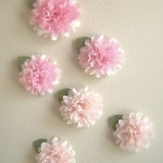 Tissue Paper Pom Pom wall Decals