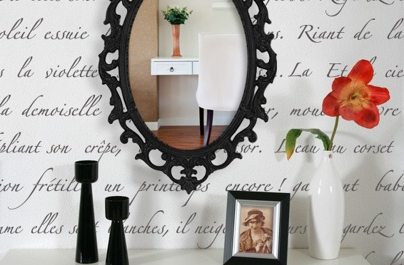 Typography mirror wall art