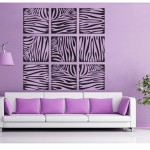Zebra print wall decoration