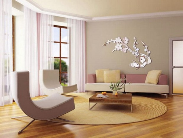 Natural Pink Grey For Wall Decor Living Room